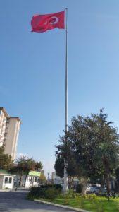paslanmaz bayrak direği